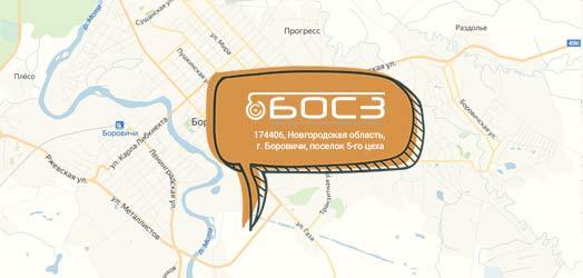 Карта Боровичи с данными БОСЗ