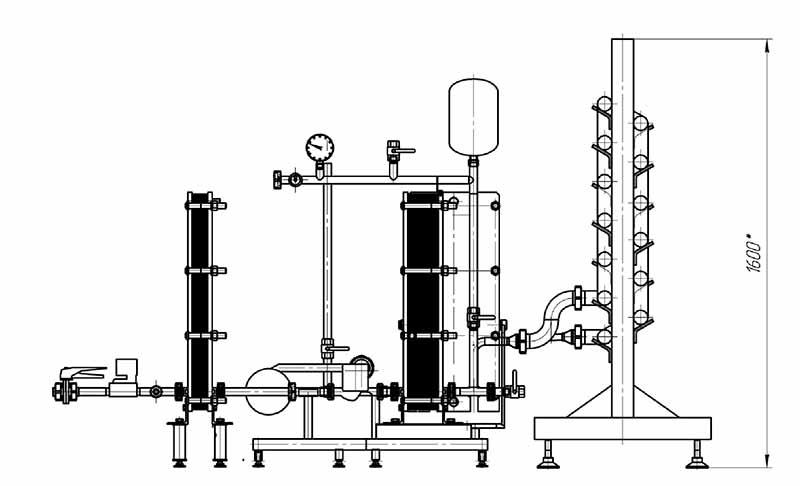 Пастеризатор ПМР с водяным нагревом