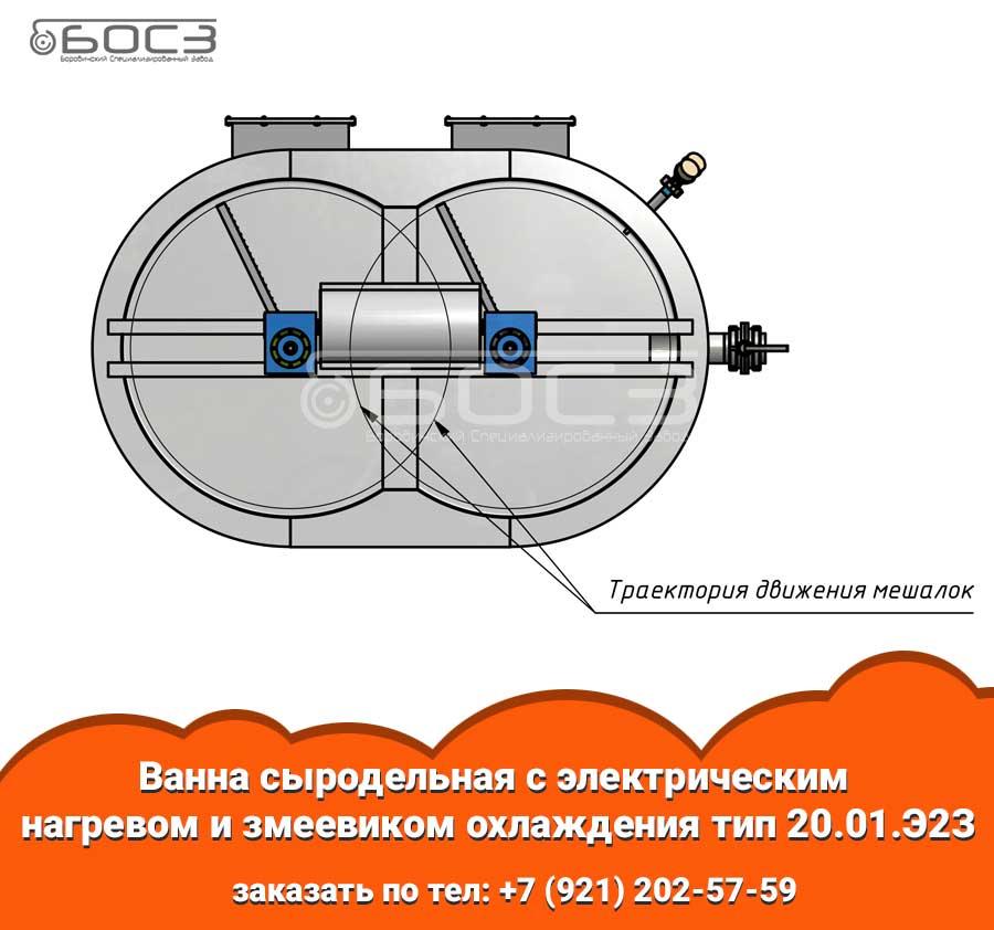 Третья фотография или схема Ванна сыродельная с электрическим нагревом и змеевиком охлаждения тип 20.01.Э2З