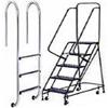 Различные варианты лестницы из нержавеющей стали